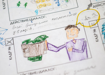 Animation artists from Fantastic Imago make storyboard for all kind of business and services