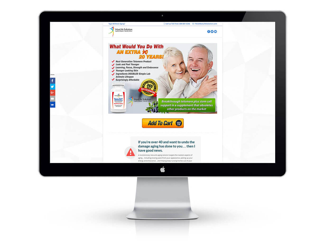 E-commerce Web Development and Banner Design for MaxLife Solution