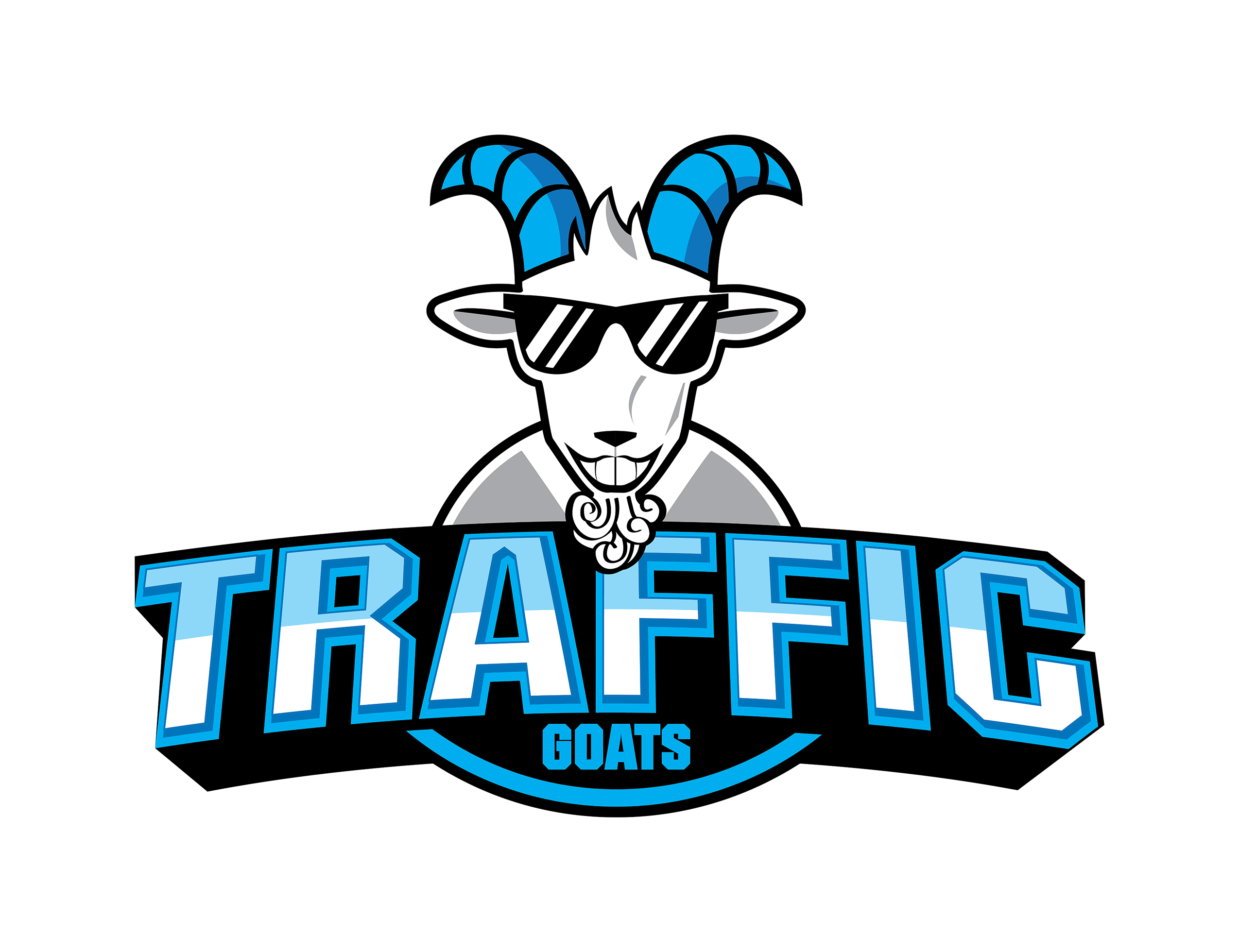 Business logo for Traffic Goats Agency Lettering Illustrator Fantastic Imago Character cool design logo from designer typography 101 visual