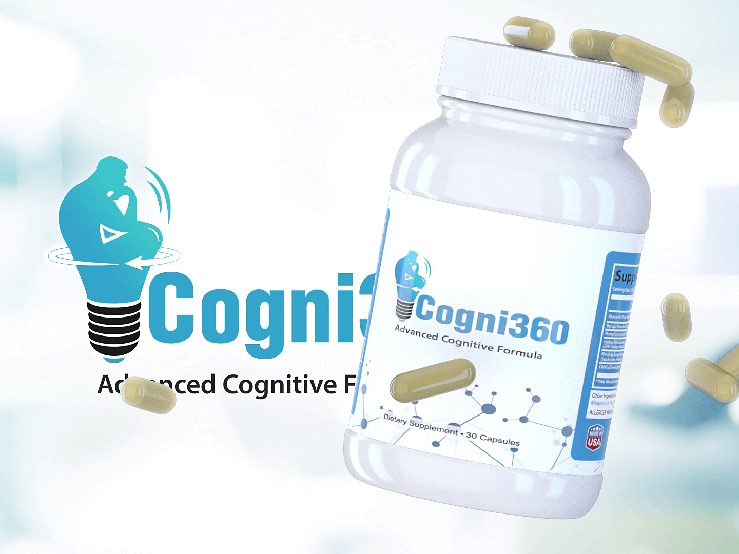 Cogni 360 VSL (Video Sales Letter) & 3d Product Animation for Brain Supplements Brand